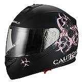 Biohazard-Full-Face-Dual-Visor-Street-Bike-Motorcycle-Helmet-by-Triangle-DOT