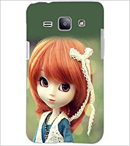 PrintDhaba Cute Doll D-1018 Back Case Cover for SAMSUNG GALAXY J1 (Multi-Coloured)
