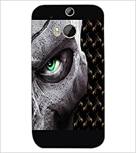 HTC ONE M8 EYE ANGRY EYE Designer Back Cover Case By PRINTSWAG