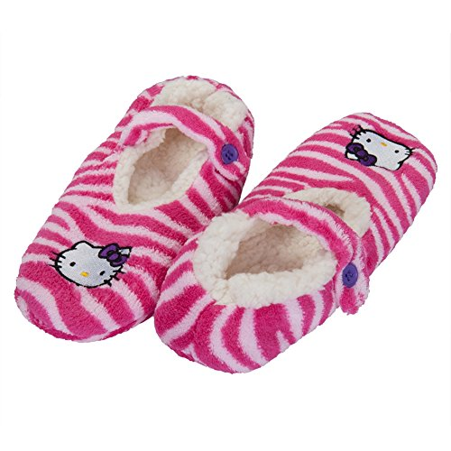 Hello-Kitty-Face-Pink-Womens-Slipper-Socks
