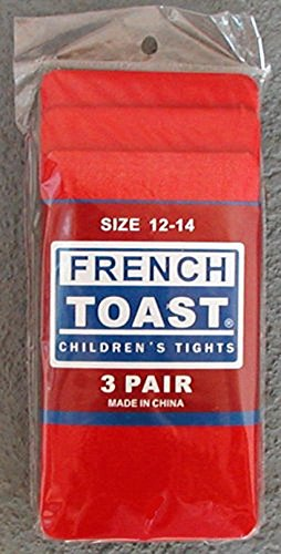3 Pairs of Childrens Red Tights - Size 12 to 14