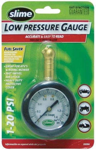 Slime 20096 Low Pressure Dial Tire Gauge 1-20 PSI