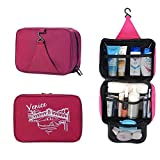 Ap&As Spacious Travel Kit Organizer Cosmetic Bags Hanging Hook Rose