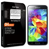Spigen Samsung Galaxy S5 Screen Protector Glass Slim [GLAS.tR SLIM] (0.4mm) Rounded Edges Glass Screen Protector Anti Chip for Galaxy S5 / Galaxy SV / Galaxy S V (2014) - GLAS.tR SLIM (SGP10728)