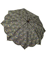Galleria Peacock Auto Open Stick Umbrella - Peacock