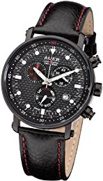 AUER Carbon Black Limited ZU-611-CBBLE Mens Chronograph SWISS ISA