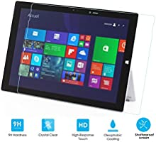 Comprar Alienwork Protectores de Pantalla para Microsoft Surface Pro 3 Vidrio templado 0,26 mm Transparente Anti-cero súper dureza vidrio Trasparente SPSF3-01