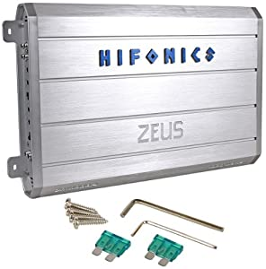 Hifonics Zeus ZRX1000.4 1000 Watt 4-Channel A/B Car Audio Amplifier With Nickel-Plated Input Terminals and Speaker Short Protection