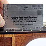 Guitar String Action Gauge - 2 SIDED (both Metric & Imperial on one gauge) Luthier Setup Ruler/Tool