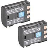 (Pack of 2)High Power Replacement Rechargeable NB-2L NB-2LH BP-2L5 Battery With Cover For Canon EOS 350D, EOS 400D, PowerShot G7 Digital Cameras