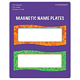Dowling DO-735205BN Magnetic Name Plates, 20 Piece Pack, 2 Packs/CT