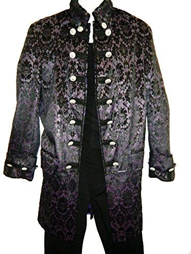 Perpetual-Vogue-Brocade-Rocker-Stage-Coat-Fully-Lined-Plum-Black