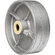 "EZ Roll WEZ-0620-STR 6"" Diameter Semi-Steel Roller Bearing Wheel, 1200 lbs Load Capacity"