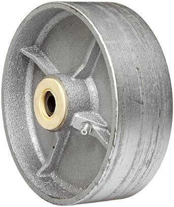 "EZ Roll WEZ-0620-STR 6"" Diameter Semi-Steel Roller Bearing Wheel, 1200 lbs Load Capacity"