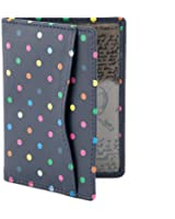 Polka Dot Leather Oyster Card Holder / Travel Pass Holder by 1642