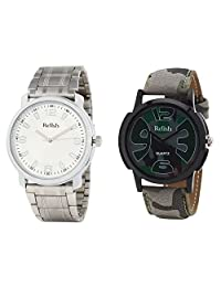 Relish Analog Round Casual Wear Watches For Men Combo - B01ANCE02S