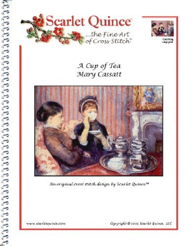 A Cup Of Tea - Mary Cassatt: Counted Cross Stitch Chart (Large Size Symbols)