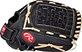"Rawlings Sporting Goods Basket Web Softball Series Gloves, Black, 12"", Left Hand"