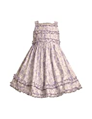 Bonnie Jean Little Girls 4 6X PURPLE LAVENDER FLORAL RUFFLE SHANTUNG Special Occasion Wedding Flower Girl Easter Birthday Party Dress