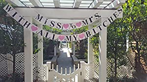 Miss To Mrs. Bachelorette Party Banner - Bridal Shower Banner - 2-in-1 set by Girlz Nights from Girlz Nights