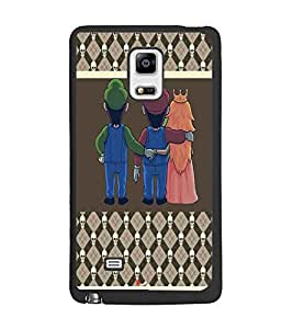 PrintDhaba Betrayed Love D-4804 Back Case Cover for SAMSUNG GALAXY NOTE 4 (Multi-Coloured)