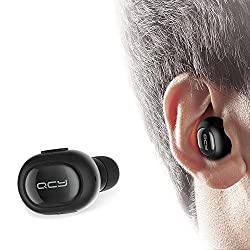 Bluetooth Headset Q26 Mini Invisible Earpiece In Ear V4.1 Wireless Bluetooth Car Headset Headphone Earbud Earphone with Microphone Hands-Free Calls for iPhone Samsung LG HTC Motorola iPad Black Black