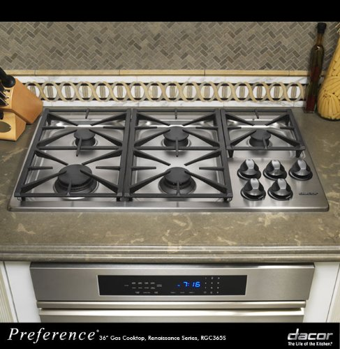 Dacor Preference RGC365SNG 36″ Renaissance Gas Cooktop with 5 Sealed Burners, Automatic Reignition, Illumina Burner Controls and 2-12″ & 1-10″ Platform Grates: Stainless Steel/Natural Gas  ->  Cooking is an important part of family tradition a