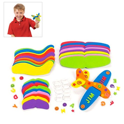 Fun Express Foam Flying Gliders Craft Kits (Makes 12)
