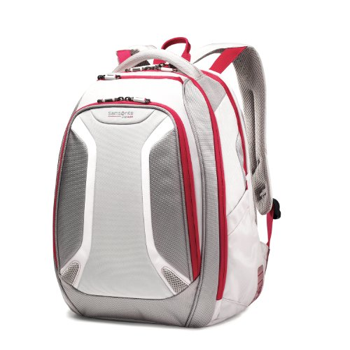 Samsonite Luggage Vizair Laptop Backpack, Silver/Ultra Pink, 15.6 Inch