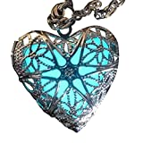 Steampunk Fairy Magical Fairy Glow in the Dark Necklace-aqua-sil