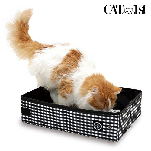 Cat1st Portable Cat Litter Box//foldable/travel/drive/