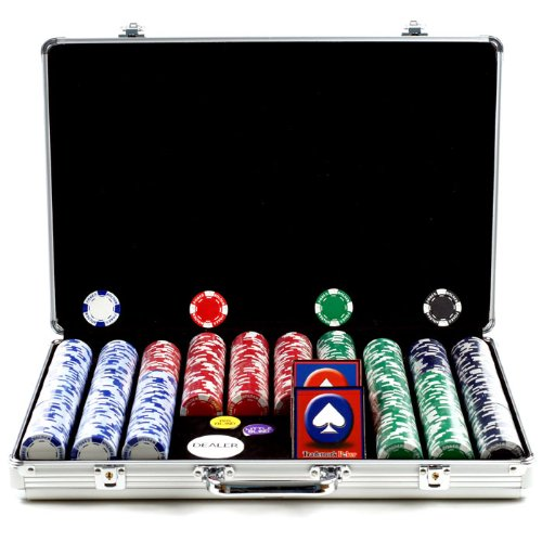Trademark Poker 650 Holdem Poker Chip Set with Executive Aluminum Case, 11.5gm