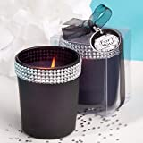 """""""Bling Collection"""" Black Candle Holders With Rhinestones , 96"""