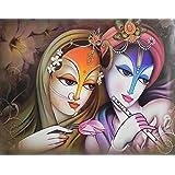 DollsofIndia Radha Krishna - The Eternal Lovers - Reprint On Paper - Unframed
