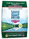 Natural Balance Limited Ingredient Diets, Small Breed Bites Lamb Meal and Brown Rice Formula for Dogs, 12-1/2-Pound Bag