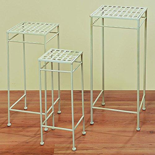 Beistelltisch Tisch Vito weiß L25cm Eisentisch Gartentisch Pflanztisch