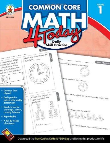 Common Core Math 4 Today, Grade 1: Daily Skill Practice