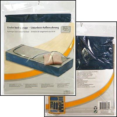 Kleideraufbewahrung Unterbett-Box Aufbewahrung für Schuhe Schuhkasten Organizer Unterbettkommode 105x45x16 cm