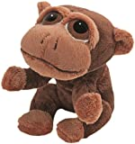 Suki Gifts Li'L Peepers Jungle Animals Mario Monkey Soft Boa Plush Toy (Light/ Dark Brown)