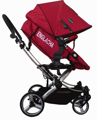 Englacha Easy Stroller, Red front-10395
