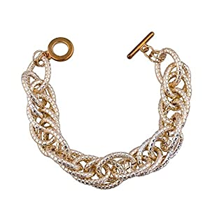 GOMO Unique 18K Real Gold Plated e Twisted Bracelets & Bangles Charming s Bracelet