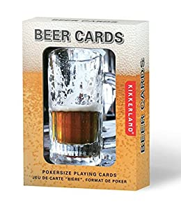 Kikkerland Playing Cards, Beer Lenticular