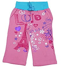 Menthol Girls printed capri (5-6 Years, Aqua)
