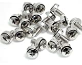 .com CABSCREWS - 50 Pkg M5 Mounting Screws for Server Rack Cabinet