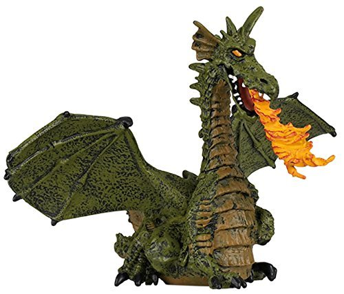 Winged Dragon with Fire (Winged Blue or Green Dragon; Colors may vary) by Papo