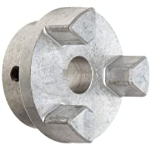 Lovejoy 17915 Size AL100 Jaw Coupling Hub, Aluminum, Inch, 0.5'' Bore, 2.53'' OD, 1.37'' Length Through Bore, 0.125'' x 0.063'' Keyway