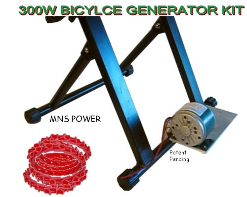 Discount Bicycle Generator Kit 300 Watts DC Pedal Power Generator With Dynamo, Belt, Plate, Stand