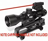 Ar15/ M4 Carrying Handle Scope/4x32 Scope with RED Laser