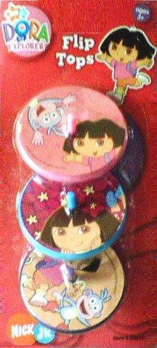 Dora the Explorer Flip Tops (3 Pack) - Buy Dora the Explorer Flip Tops (3 Pack) - Purchase Dora the Explorer Flip Tops (3 Pack) (What Kids Want, Inc., Toys & Games,Categories,Activities & Amusements,Spinning Tops)
