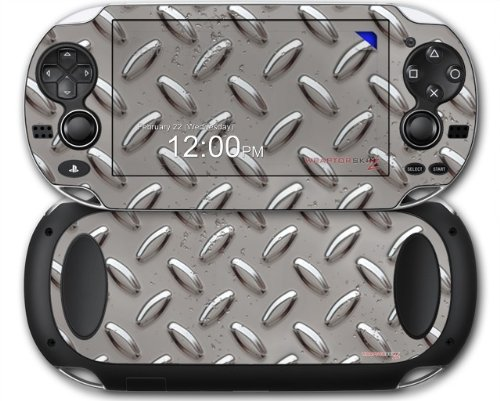 Sony PS Vita Skin Diamond Plate Metal 02 by WraptorSkinz